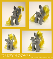 Size: 950x1044 | Tagged: artist:saltedvanilla, brushable, custom, derpy hooves, photo, pony, safe, solo, toy