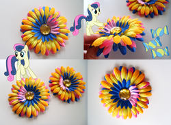 Size: 900x658 | Tagged: artist:allycataccessories, bon bon, custom, cutie mark, hairclip, irl, photo, safe, sweetie drops