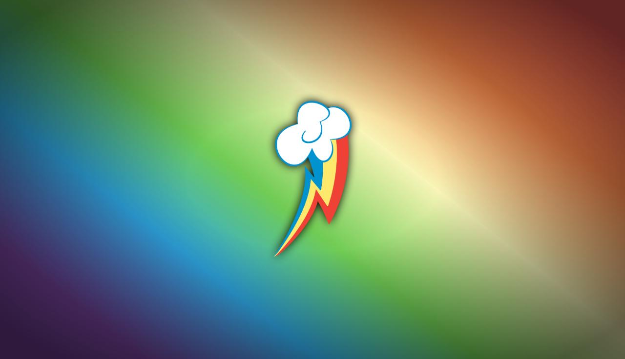 168207 Cutie Mark Gradient Background Rainbow Dash Safe