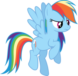 Size: 5000x4862 | Tagged: safe, artist:xpesifeindx, rainbow dash, swarm of the century, absurd resolution, simple background, solo, transparent background, vector