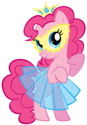 Size: 2130x3042 | Tagged: safe, artist:purplefairy456, pinkie pie, clothes, crown, mask, see-through, simple background, skirt, transparent background, vector