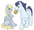 Size: 1091x962 | Tagged: safe, artist:cartoonlion, derpy hooves, soarin', pegasus, pony, derpin', female, male, mare, muffin, shipping, straight