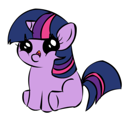 Size: 688x666 | Tagged: safe, twilight sparkle, filly twilight telling an offensive joke, inverted mouth