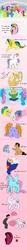 Size: 600x5544 | Tagged: safe, artist:uppun, ace, bubbles (g1), buttons (g1), cherry treats, confetti (g1), seawinkle, snuzzle, wavedancer, human, g1, my little pony tales, art meme, harry potter, heroes, jenny, ponified, princess dawn, sylar, voldemort