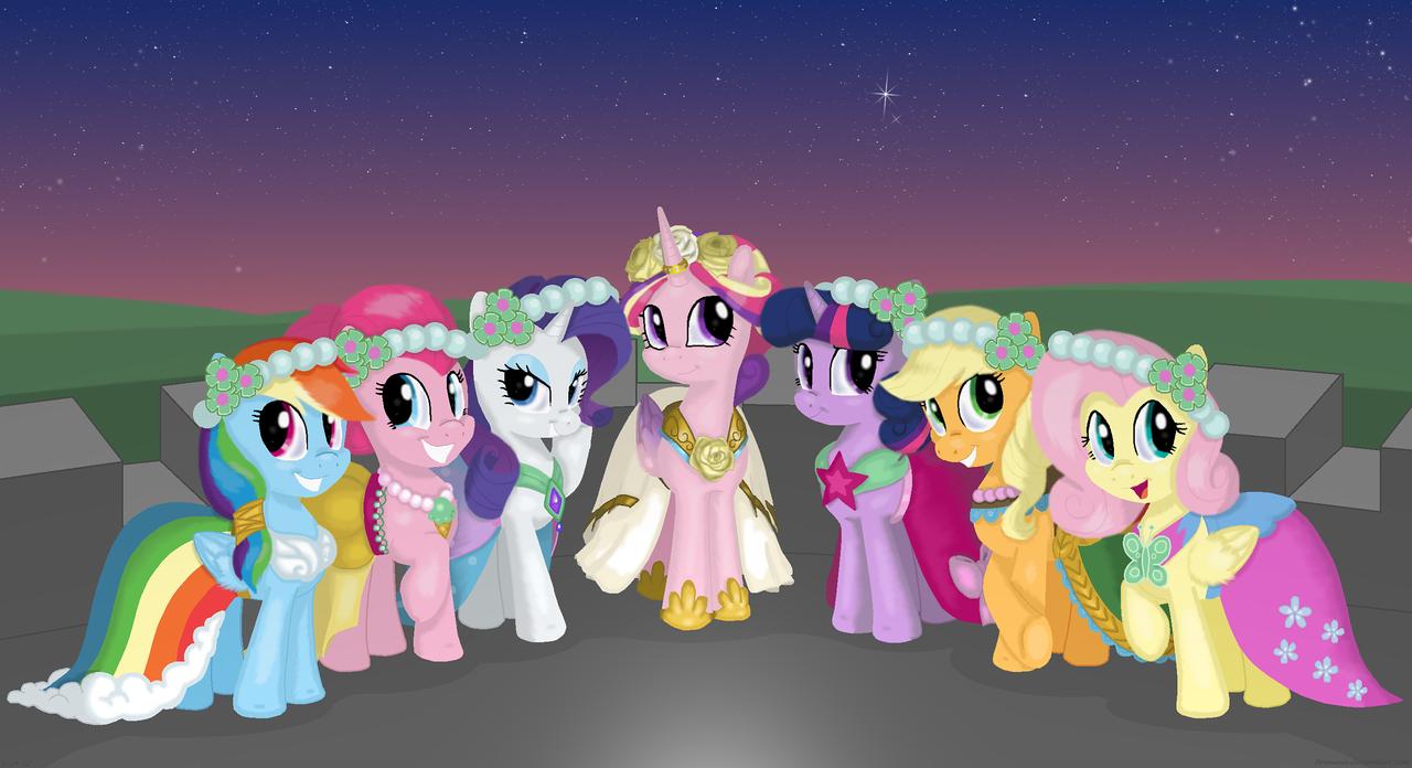 179370 A Canterlot Wedding Lejack Artist Bswprecious Bridesmaid Dress Clothes Fluttershy Pinkie Pie Princess Cadance Rainbow Dash