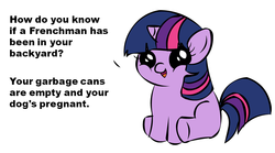 Size: 1075x597 | Tagged: safe, twilight sparkle, stand by me, filly, filly twilight telling an offensive joke, meme, reference