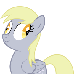Size: 800x800 | Tagged: safe, artist:necromanteion, derpy hooves, pegasus, pony, female, liarpony, mare, scrunchy face, simple background, solo, transparent background, vector
