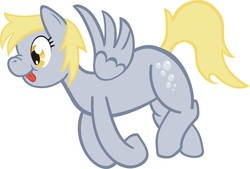 Size: 1994x1351 | Tagged: safe, artist:1ltdaniels, derpy hooves, pegasus, pony, female, mare, scrunchy face, tongue out