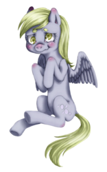 Size: 400x639 | Tagged: safe, artist:lenorespacey, derpy hooves, pegasus, pony, scrunchy face, simple background, solo, transparent background