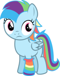 Size: 3000x3781 | Tagged: safe, artist:blueblitzie, oc, oc only, oc:prism dart, female, filly, offspring, parent:rainbow dash, parent:soarin', parents:soarindash, simple background, sock, solo, transparent background, vector