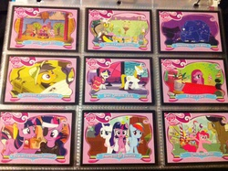 Size: 2592x1936 | Tagged: safe, apple bloom, cranky doodle donkey, daring do, discord, madame leflour, mr. turnip, pinkie pie, prince blueblood, rainbow dash, rarity, rocky, scootaloo, sir lintsalot, sweetie belle, twilight sparkle, donkey, earth pony, parasprite, pegasus, pony, unicorn, ursa minor, a friend in deed, boast busters, it's about time, party of one, read it and weep, swarm of the century, the best night ever, the return of harmony, the show stoppers, card, future twilight, irl, merchandise, photo, pinkamena diane pie, trading card