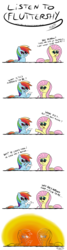 Size: 1000x3706 | Tagged: safe, artist:chibi95, fluttershy, rainbow dash, asdfmovie, comic, explosion, mine turtle, this will end in tears and/or death
