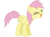 Size: 3200x2346 | Tagged: safe, artist:nicolasnsane, fluttershy, pegasus, pony, alternate hairstyle, blind bag, eyes closed, female, flutteryay, mare, recolor, toy, toy interpretation, yay
