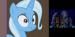 Size: 1150x562 | Tagged: safe, trixie, space adventure cobra, wheel, wheels trixie