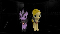 Size: 1366x768 | Tagged: safe, oc, oc only, oc:robinmane, 3d, alicorn amulet, cape, clothes, evil twilight, gmod
