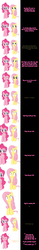 Size: 1000x6362 | Tagged: safe, artist:undead-niklos, fluttershy, pinkie pie, comic:pinkie pie says goodnight, comic, every breath you take, pink text, song reference, the police, yellow text