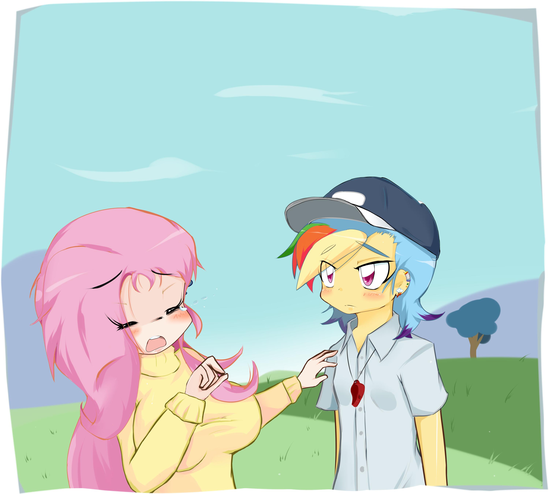 Rainbow Dash And Fluttershy Anime