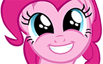 Size: 150x94 | Tagged: artist:iks83, brilliant face, faic, pinkie pie, safe