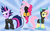Size: 2783x1700 | Tagged: safe, artist:kas92, fluttershy, pinkie pie, twilight sparkle, earth pony, pegasus, pony, unicorn, bunny ears, clothes, costume, dangerous mission outfit, eyepatch, female, future twilight, goggles, hoodie, looking at you, mare, pinkie spy