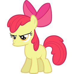 Size: 700x716 | Tagged: apple bloom, artist:kuren247, pouting, safe, simple background, solo, transparent background, vector