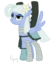 Size: 416x518 | Tagged: safe, artist:nyerpy, kaine, male, nier, ponified, solo, trap