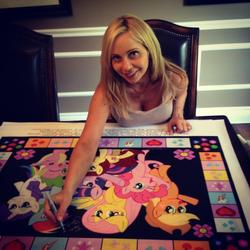 Size: 1024x1024 | Tagged: safe, human, pony, cleavage, female, irl, merchandise, photo, tara strong