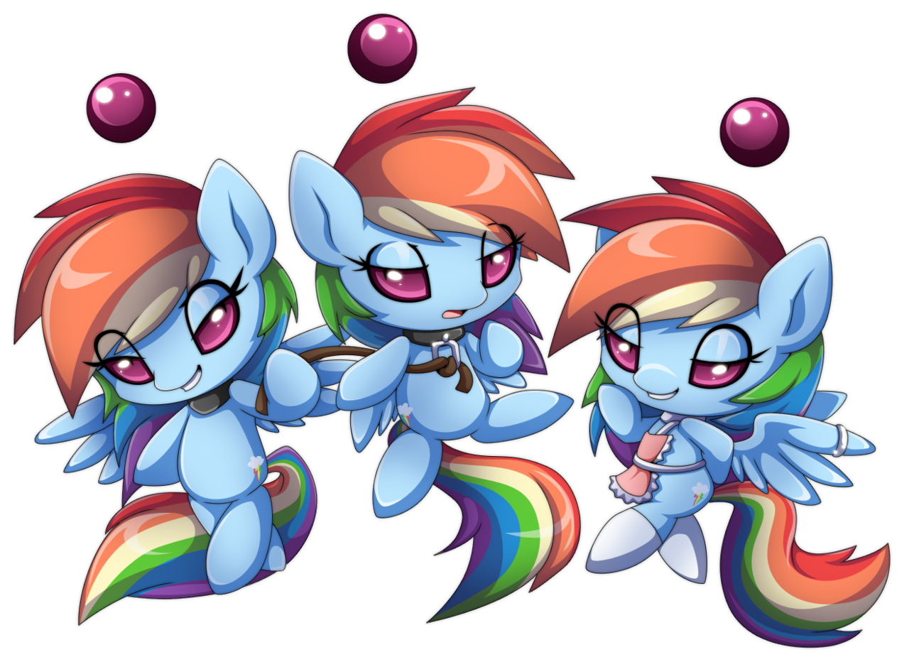 175091 Apron Artist Extra Fenix Bedroom Eyes Chao Clothes Collar Commission Crossover Cute Grin Leash Rainbow Dash Safe Simple Background Smirk Socks Sonic Adventure Sonic The Hedgehog Series Species Swap Transparent Background