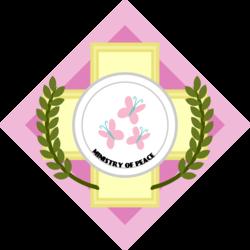 Size: 3000x3000   Tagged: safe, artist:brisineo, fallout equestria, cutie mark, emblem, fluttershy's cutie mark, ministry of peace