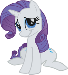 Size: 467x514 | Tagged: safe, artist:perinigricon, rarity, pony, unicorn, embarrassed, female, mare, photoshop, simple background, sitting, solo, transparent background, vector