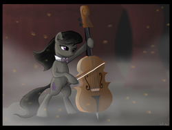 Size: 2400x1800 | Tagged: safe, artist:dawnmistpony, octavia melody, earth pony, pony, bipedal, cello, female, mare, music, musical instrument, photoshop, solo, windswept mane