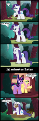 Size: 1350x4146 | Tagged: artist:toxic-mario, comic, female, fluttershy, insanity, mare, mud, pegasus, photoshop, pony, rarity, safe, trio, trio female, twilight sparkle, unicorn, unicorn twilight
