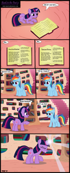 Size: 1422x3471 | Tagged: artist:toxic-mario, book, comic, duo, duo female, female, filly, foal, golden oaks library, library, pegasus, photoshop, pony, rainbow dash, safe, twilight sparkle, unicorn, unicorn twilight