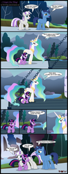 Size: 2270x5803 | Tagged: alicorn, artist:toxic-mario, comic, drawbridge, family, female, filly, foal, male, mare, night light, parent, photoshop, pony, princess celestia, safe, stallion, twilight sparkle, twilight velvet, unicorn, unicorn twilight
