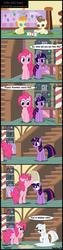Size: 1504x5935 | Tagged: artist:toxic-mario, baby, baby cakes, baby pony, comic, earth pony, female, flour, mare, pegasus, photoshop, pinkie pie, pony, pound cake, pumpkin cake, safe, twilight sparkle, unicorn, unicorn twilight