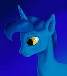 Size: 884x1000 | Tagged: safe, artist:sb, night light, pony, unicorn, bust, gradient background, male, profile, solo, stallion