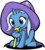 Size: 905x1000 | Tagged: safe, artist:stardustxiii, trixie, pony, unicorn, best pony, biting, clothes, cute, daaaaaaaaaaaw, diatrixes, female, filly, filly trixie, foal, hat, nom, photoshop, robe, shadow, simple background, sitting, solo, the gweatest and pwowafulest twixie, transparent background, trixie's cape, trixie's hat, wand, younger