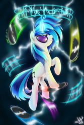 Size: 2000x3000 | Tagged: artist:1jaz, dj pon-3, female, mare, pony, safe, solo, unicorn, vinyl scratch
