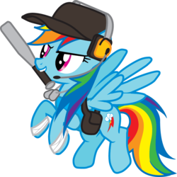 Size: 804x805   Tagged: safe, artist:smashinator, rainbow dash, pegasus, pony, baseball bat, crossover, female, mare, mouth hold, scout, simple background, solo, team fortress 2, transparent background