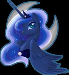 Size: 2113x2284 | Tagged: safe, artist:ladyamaltea, princess luna, alicorn, pony, bust, colored pupils, female, high res, horn, jewelry, mare, portrait, profile, regalia, simple background, solo, tiara, transparent background