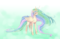 Size: 1821x1200 | Tagged: safe, artist:karolinanoumenon, princess celestia, alicorn, pony, female, mare, sad, solo