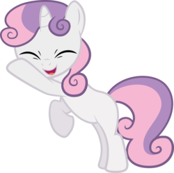 Size: 4687x4672 | Tagged: dead source, safe, artist:quanno3, sweetie belle, pony, unicorn, sisterhooves social, absurd resolution, cute, diasweetes, eyes closed, female, filly, happy, simple background, solo, transparent background, vector