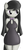 Size: 359x795 | Tagged: safe, artist:tg-0, octavia melody, earth pony, anthro, bare shoulders, black dress, breasts, busty octavia, cleavage, clothes, cute, dress, female, hands behind back, little black dress, looking sideways, simple background, solo, tavibetes, white background, wide hips