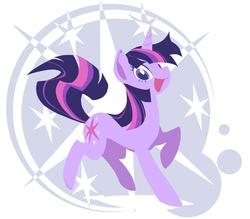 Size: 1000x875   Tagged: safe, artist:yoh yoshinari, part of a set, twilight sparkle, pony, unicorn, cutie mark background, female, lineless, mare, open mouth, solo, unicorn twilight