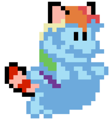 Size: 257x287 | Tagged: artist needed, safe, rainbow dash, pegasus, pony, raccoon, tanooki, female, mare, mario, pixel art, power-up, raccoon suit, simple background, solo, sprite, super mario bros., super mario bros. 3, transparent background