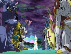 Size: 640x480 | Tagged: artist needed, digimon, digimon savers, princess celestia, royal knights, safe