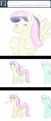 Size: 640x1507 | Tagged: artist:lamia, ask skyra and bons away, bons away, female, lip bite, mare, no pupils, pegasus, pony, safe, skyra