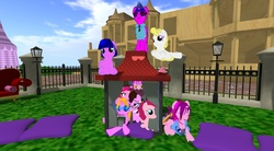 Size: 1920x1058 | Tagged: earth pony, pink, pony, safe, second life, trotsdale, unicorn