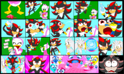Size: 2529x1511 | Tagged: safe, artist:terry, megan williams, comic, crossover, disney, doll, duck tales, element of kindness, elements of harmony, laughing, shadow the hedgehog, silver the hedgehog, sonic the hedgehog (series), webby vanderquack