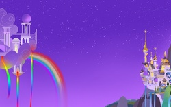 Size: 1280x800 | Tagged: safe, artist:javkiller, canterlot, cloudsdale, night, no pony, wallpaper