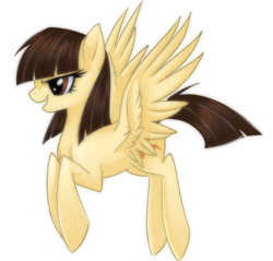 Size: 600x573   Tagged: safe, artist:rizcifra, wild fire, pegasus, pony, female, flying, mare, profile, simple background, solo, transparent background